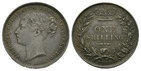 English Milled Coins - Victoria - 1883 - Shilling