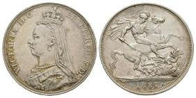 English Milled Coins - Victoria - 1887 - Crown