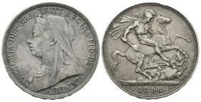English Milled Coins - Victoria - 1896 LIX - Crown