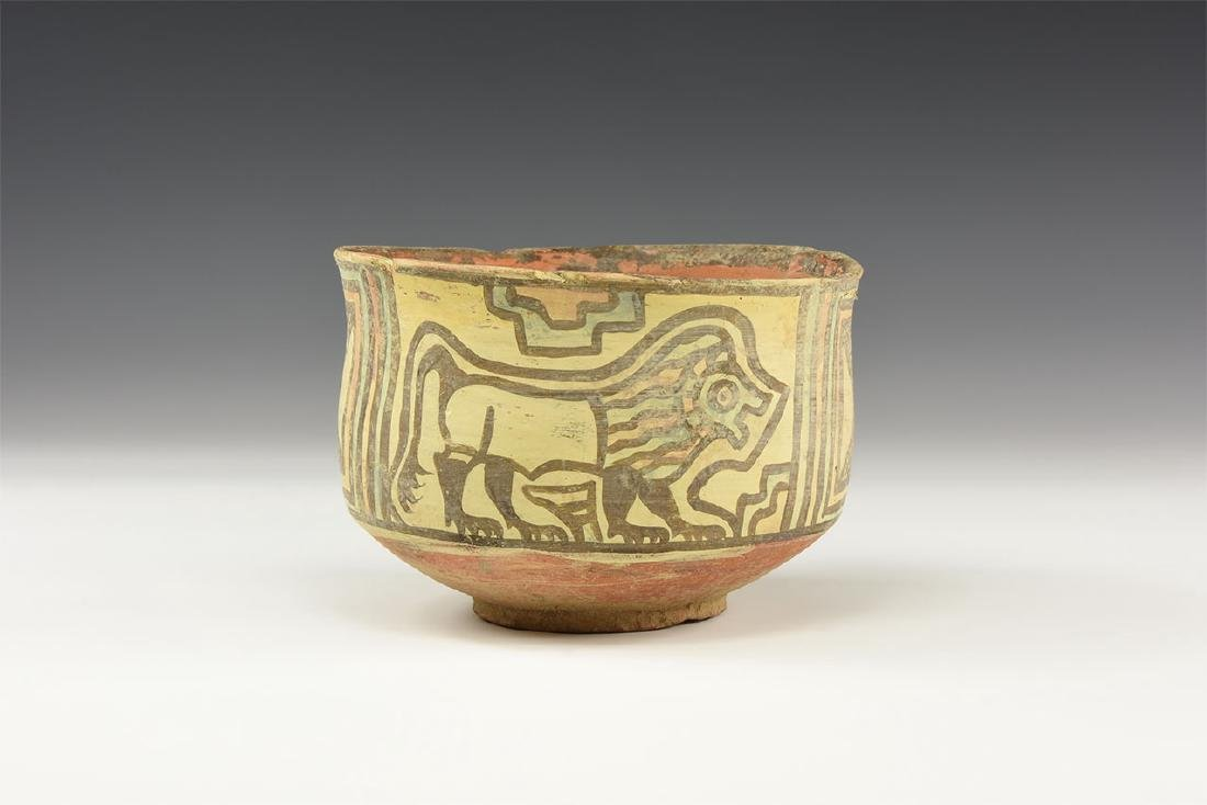 Mehrgarh Polychrome Cup with Bull and Lion