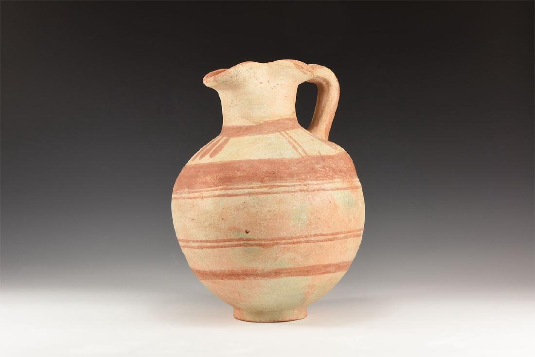 Western Asiatic Bichrome Jug with Trefoil Mouth