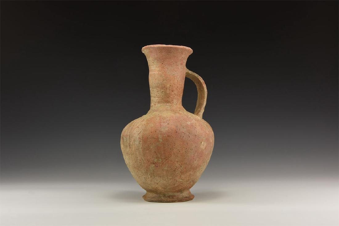 Bronze Age Footed Wine Flaggon