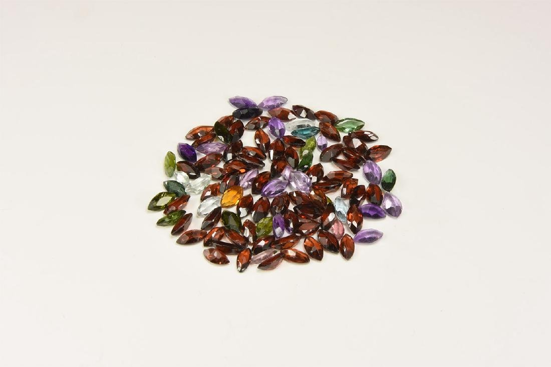 100 Mixed Marquise-Cut Gem Group