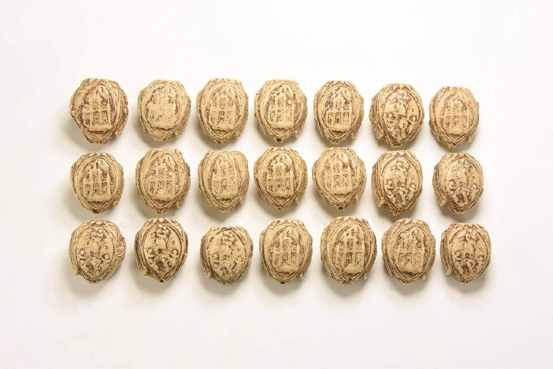 Post Medieval Nut-Shaped Bead Group
