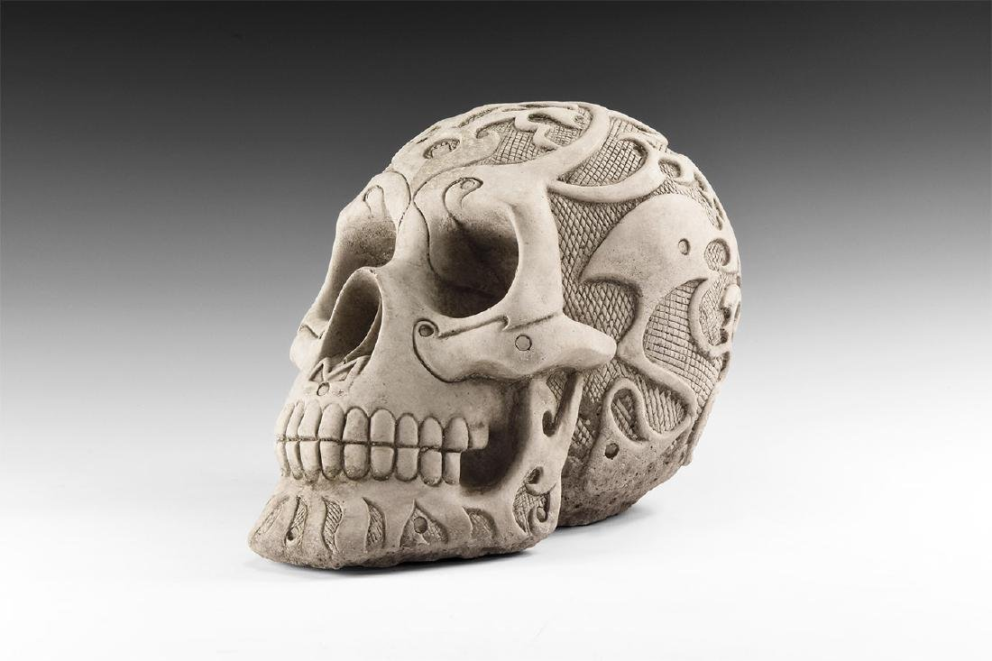 Post Medieval Moulded Life-Sized Skull