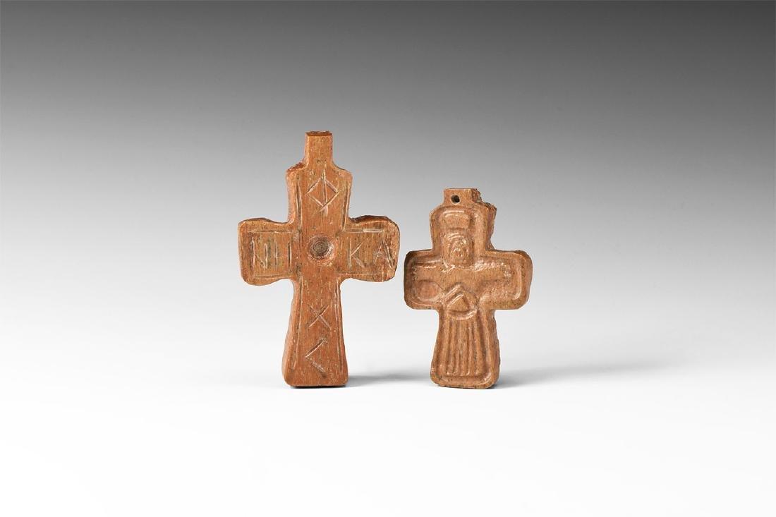Byzantine Cross Pendant Group