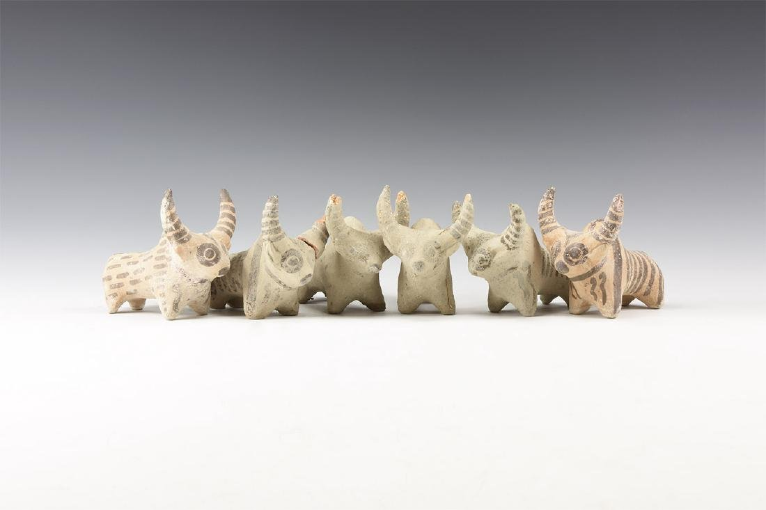 Indus Valley Style Bull Statuette Group