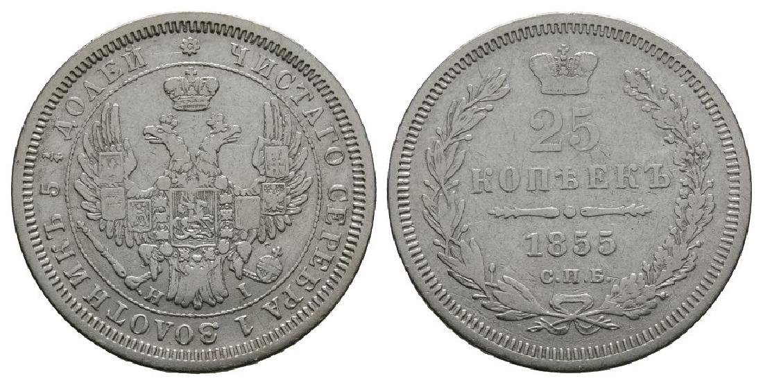 World Coins - Russia - 1855 - 25 Kopeks