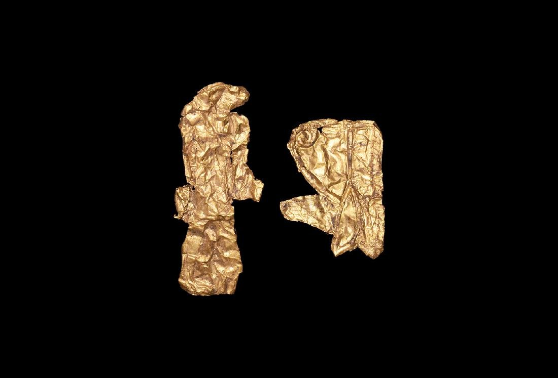 Egyptian Gold Foil Amulet Group