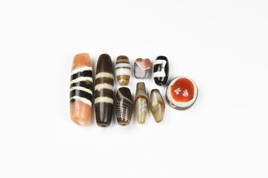 Western Asiatic Banded Agate and Other Bead Group
