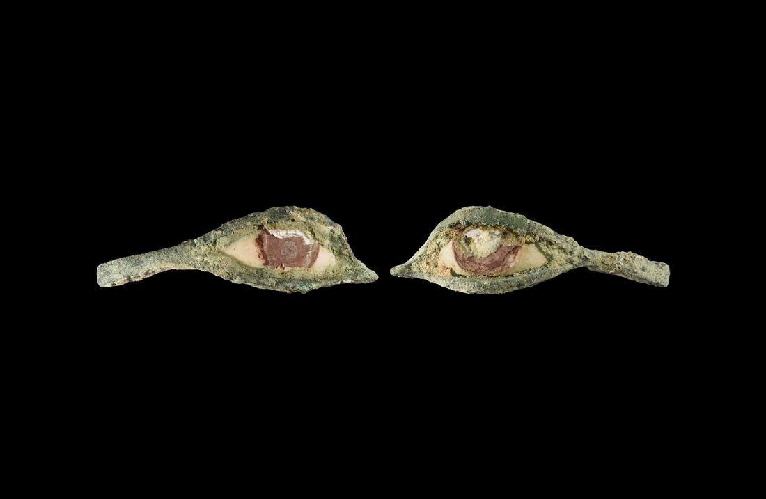 Egyptian Mummy Mask Eye Pair