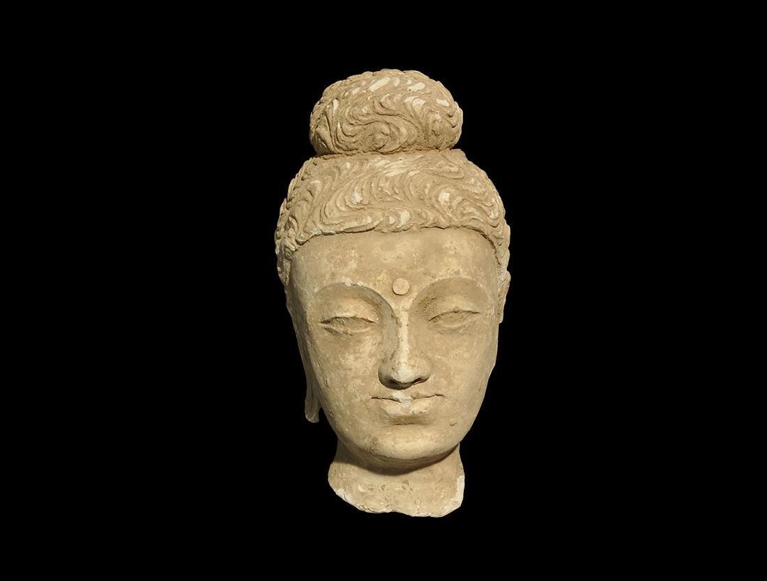 Gandharan Stucco Head of Buddha