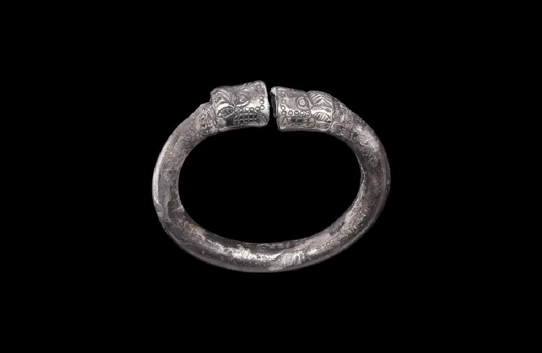 Western Asiatic Luristan Lion-Headed Bracelet