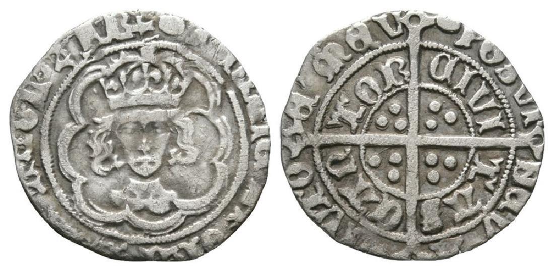 Henry VII - Canterbury - Facing Bust Halfgroat