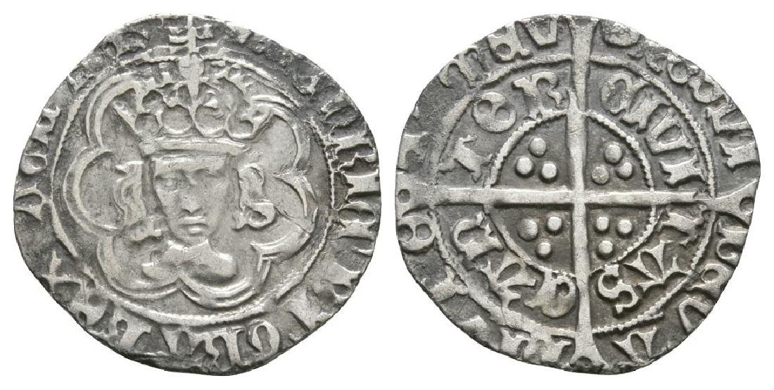 Henry VII - Canterbury - Facing Bust Halfgroat