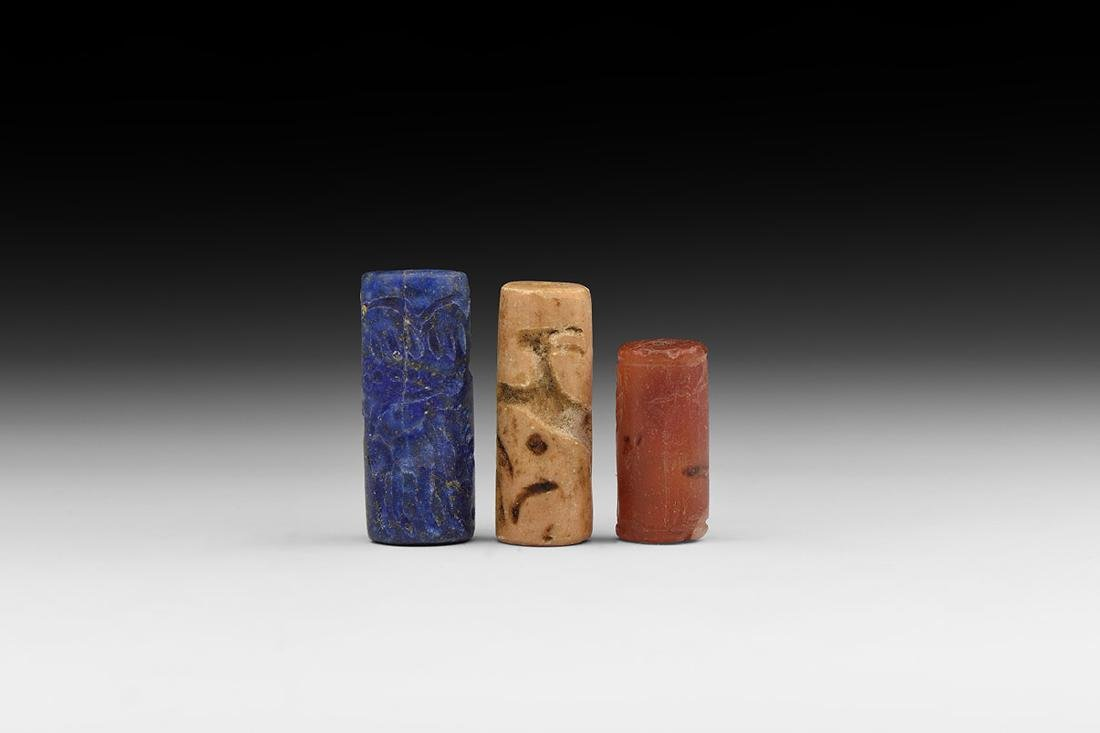 Western Asiatic Bactrian Style Cylinder Seal Group.