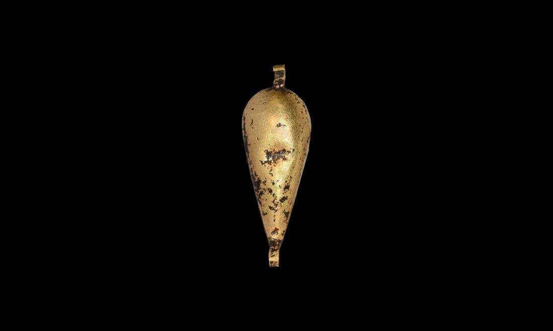 Egyptian Gold Lotus Pendant