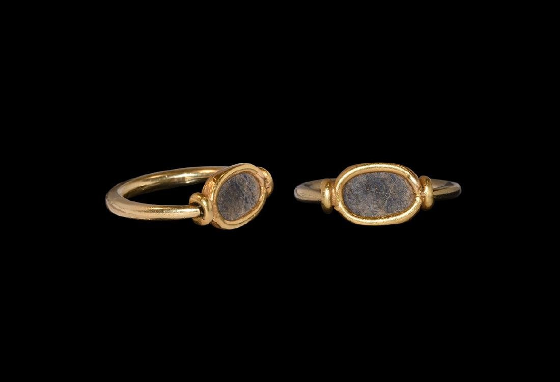 Egyptian Gold Ring with Reversible Bezel