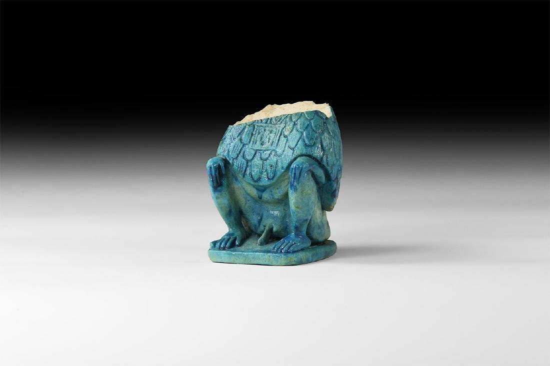 Egyptian Large Glazed Baboon Torso