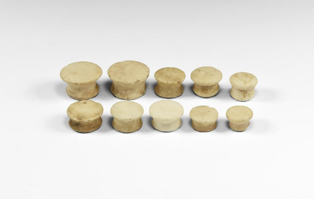 Egyptian Senet Gaming Piece Set