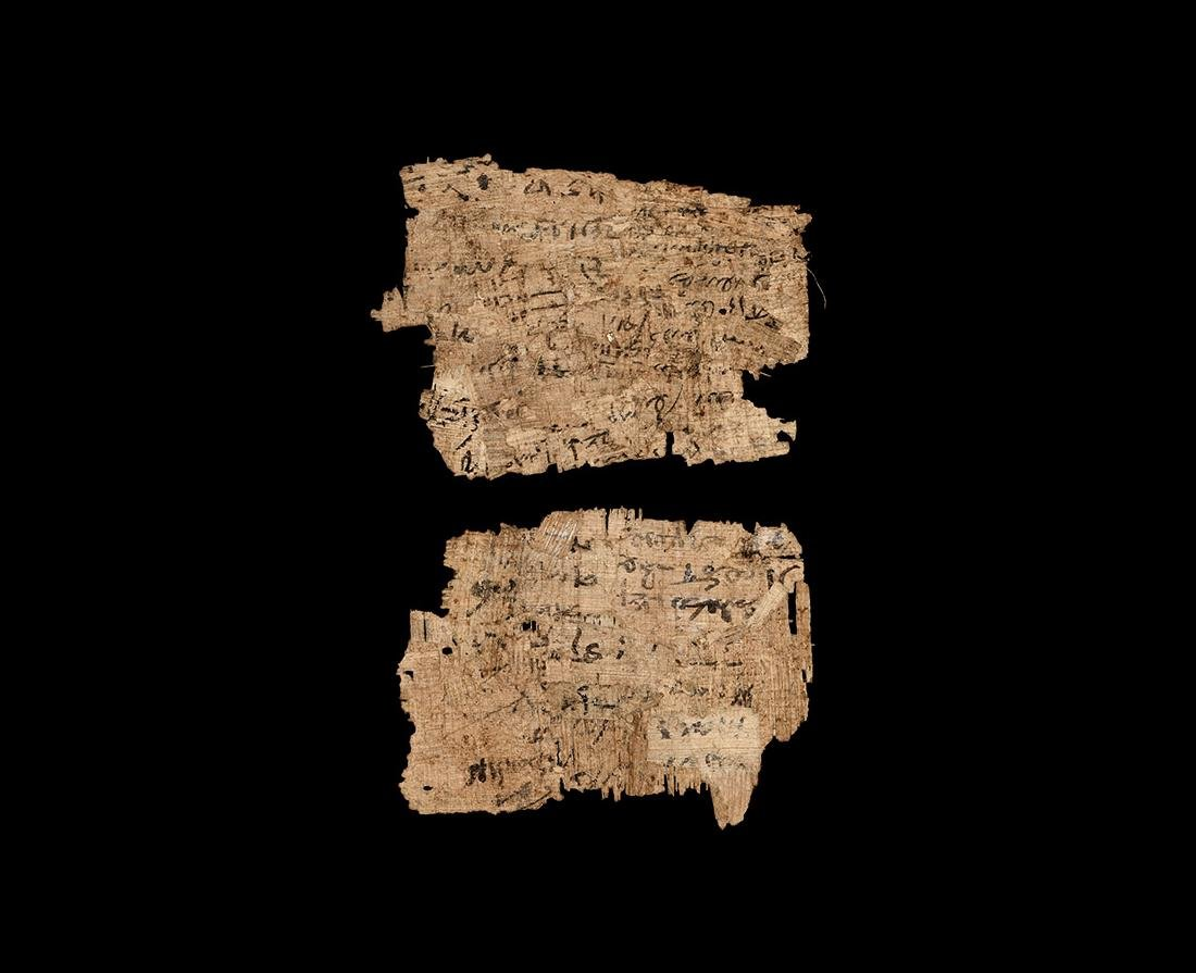 Egyptian Papyrus Page Fragments