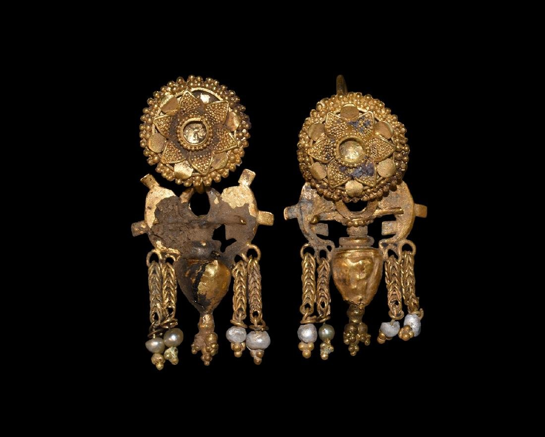 Greek Hellenistic Gold Filigree Earrings