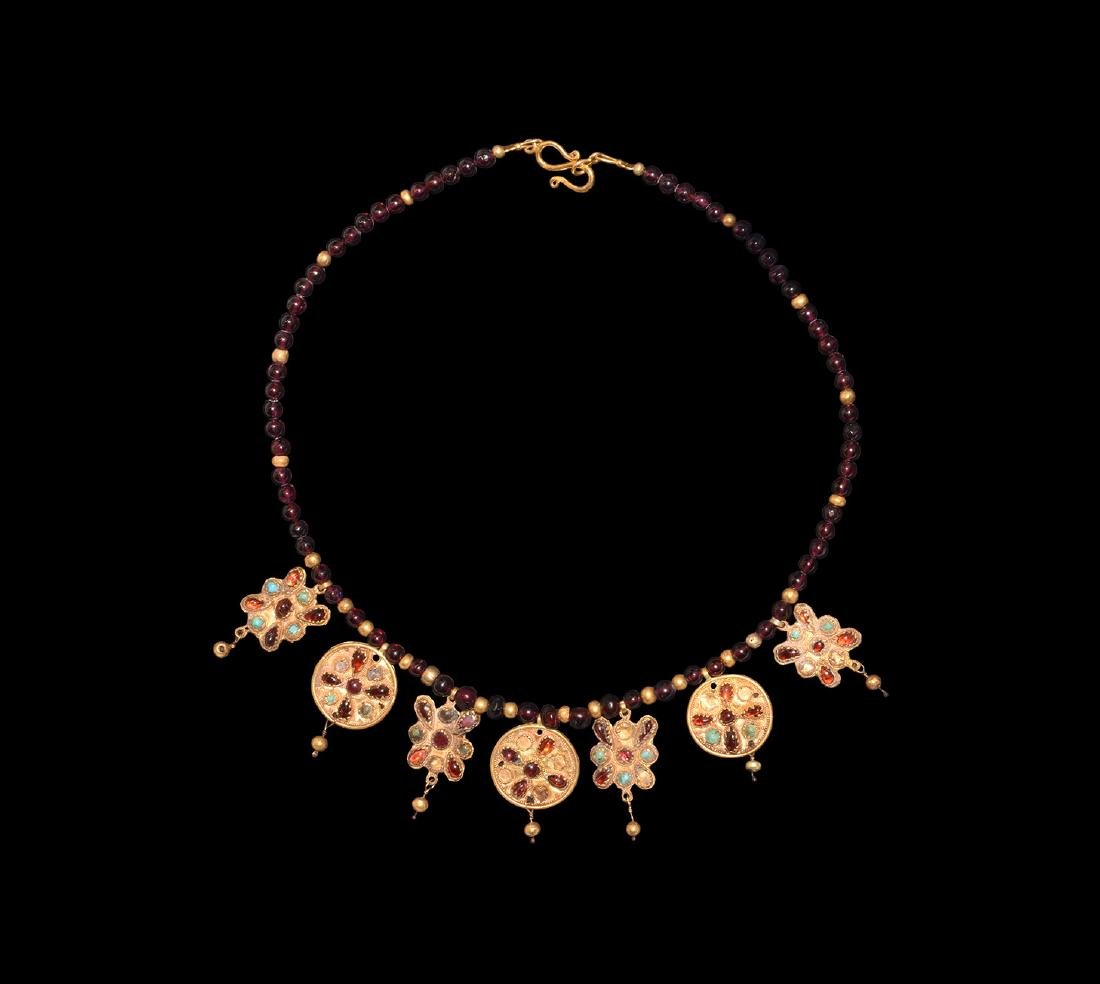 Greek Hellenistic Gold Necklace with Pendants