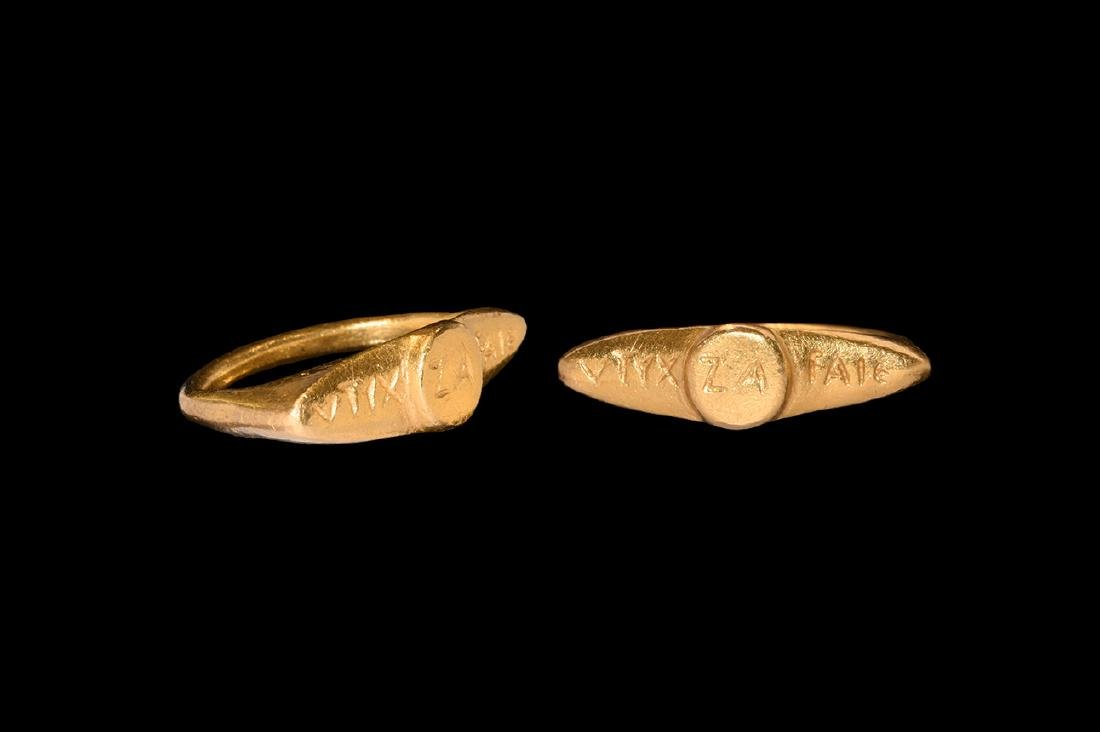 Greek Hellenistic Gold Ring with Inscription