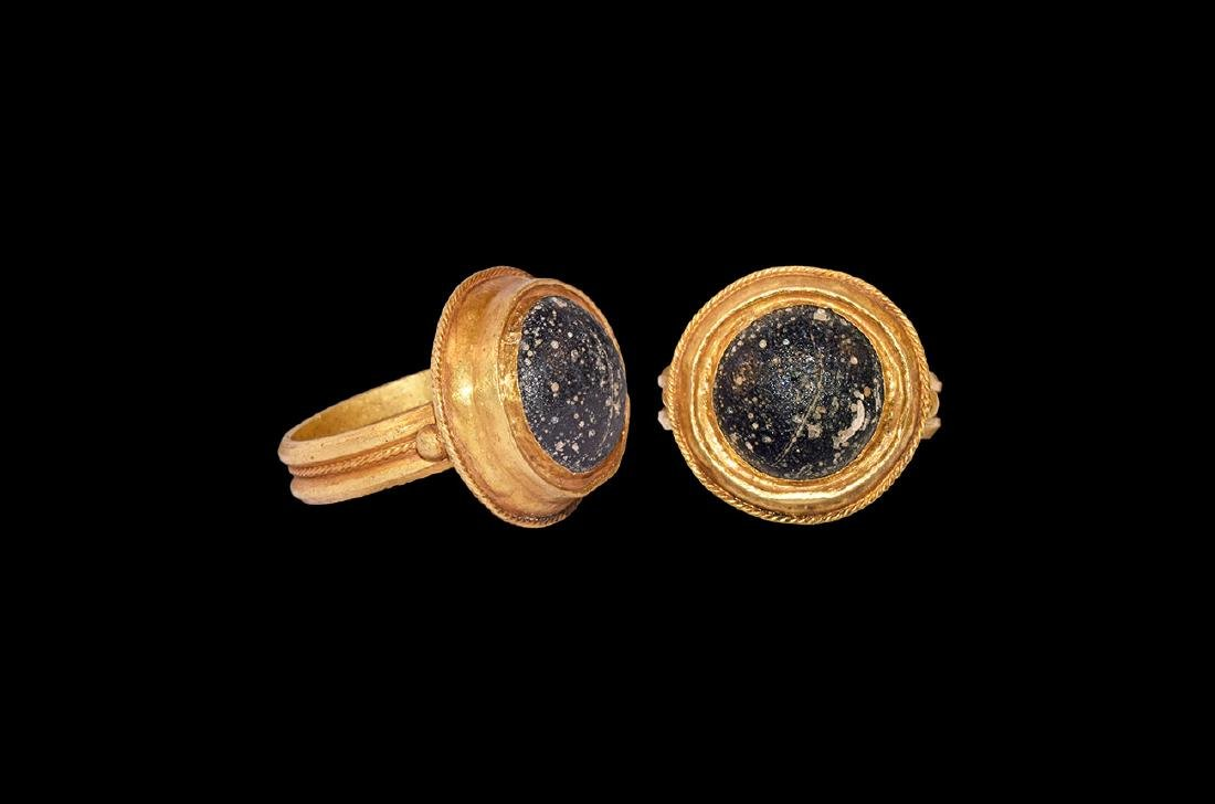 Greek Cabochon in Gold Ring