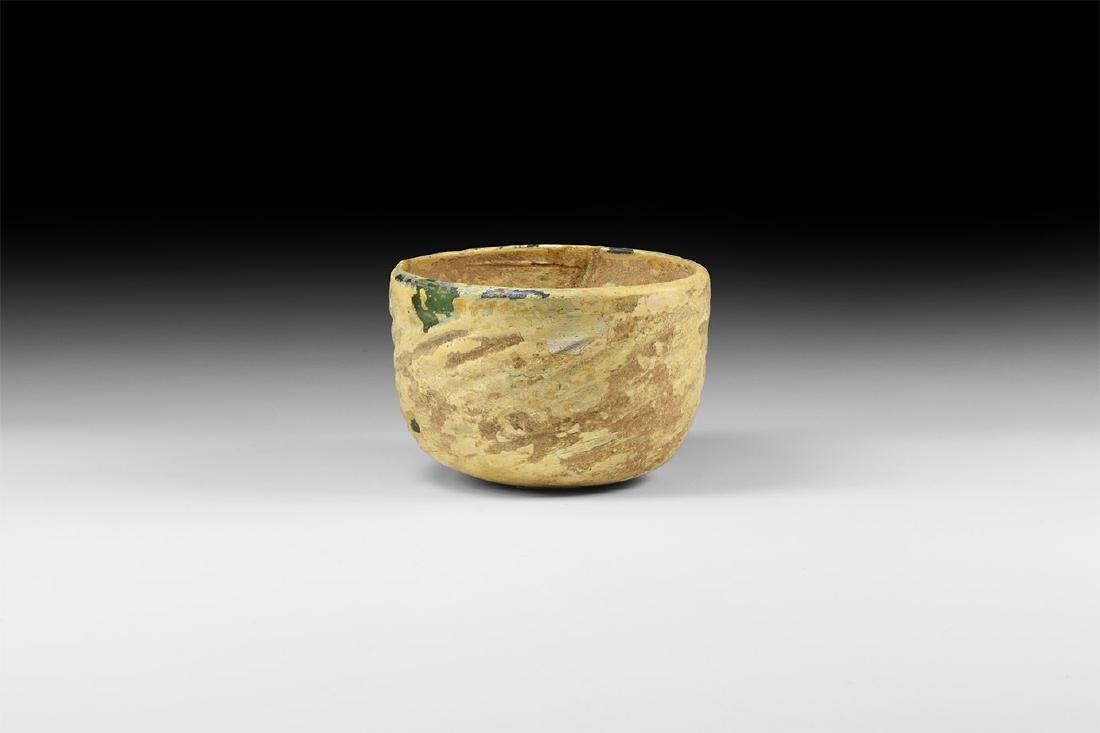 Greek Hellenistic Green Glass Cup
