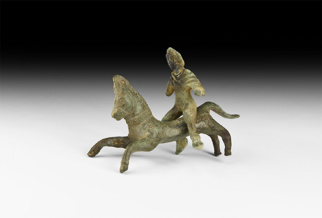 Roman Horse and Rider Statuette