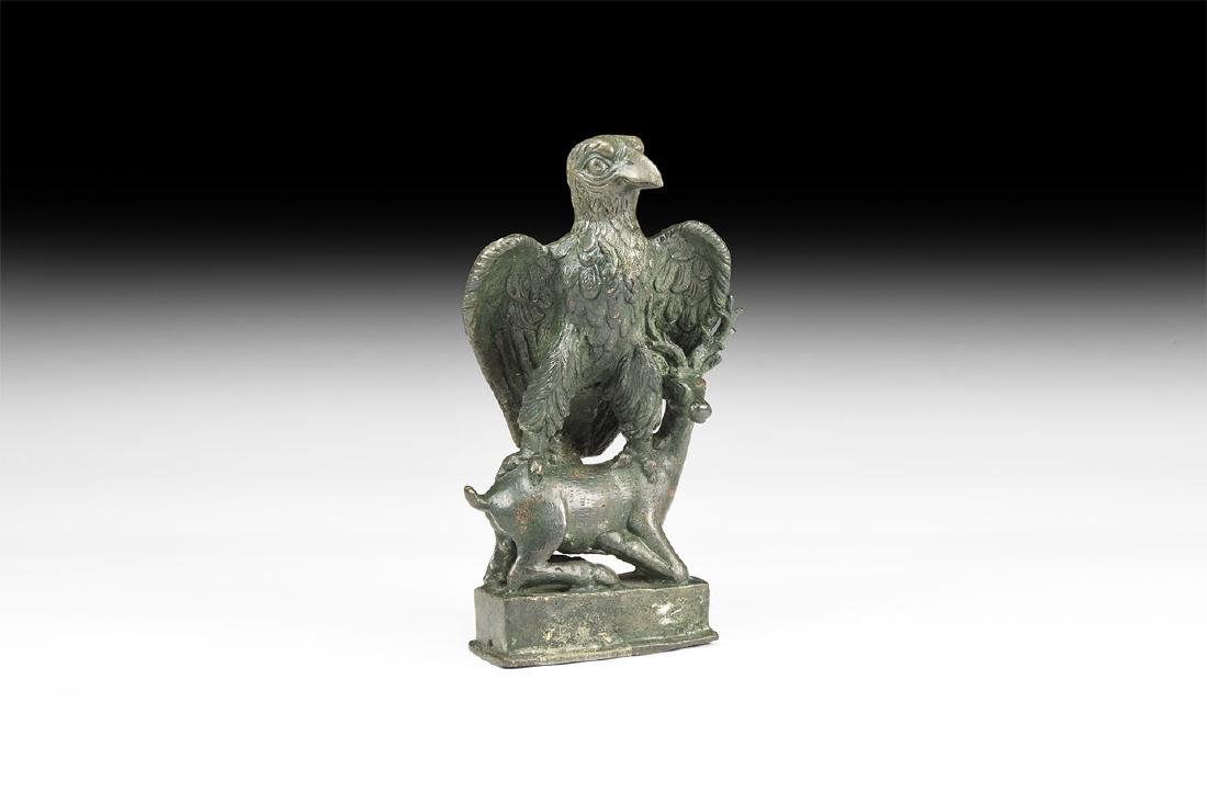 Roman Eagle with Deer Statuette