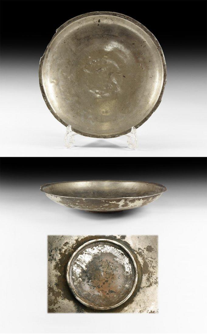 Roman Large Inscribed Silver Dish
