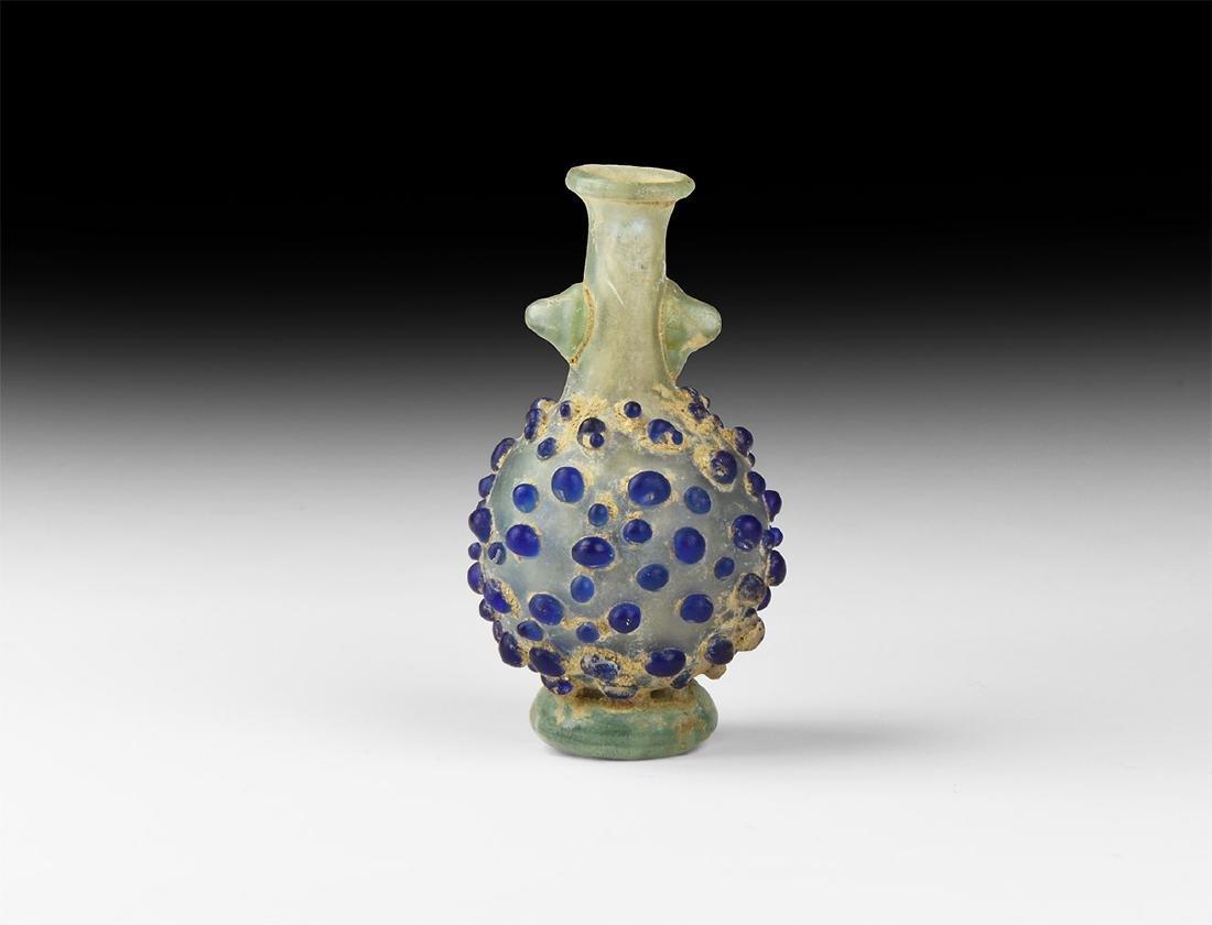 Roman Glass Vessel with Blue Stipples
