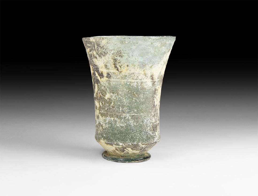 Roman Glass Cup with Concentric Circles