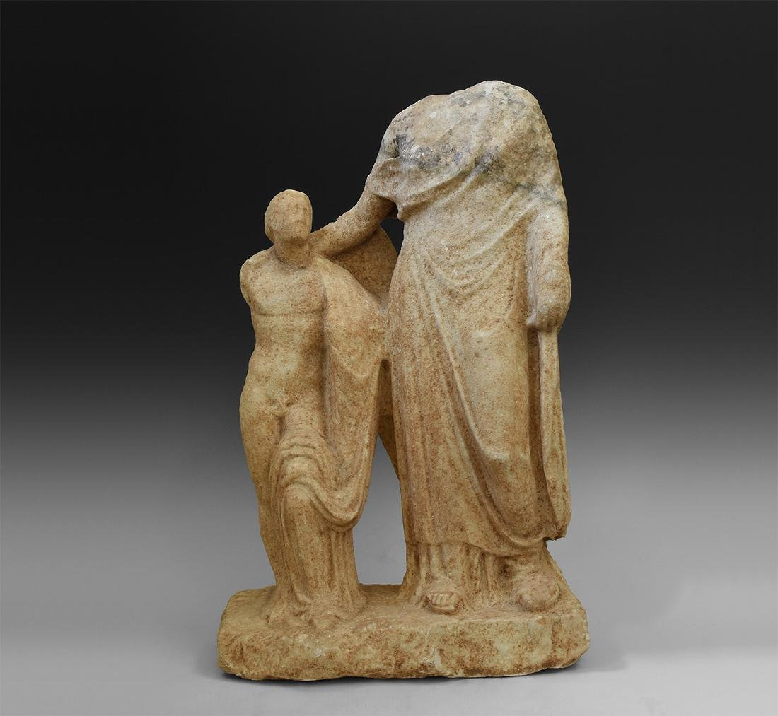 Roman Large Statue of Venus and Cupid