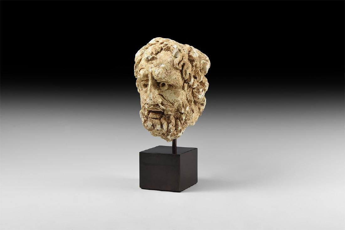 Roman Bearded Male Head