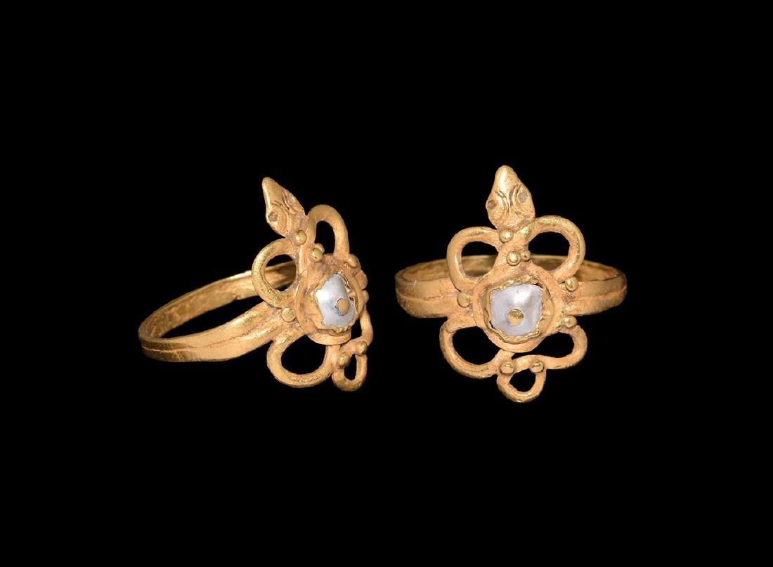 Romano-Egyptian Gold Snake Ring