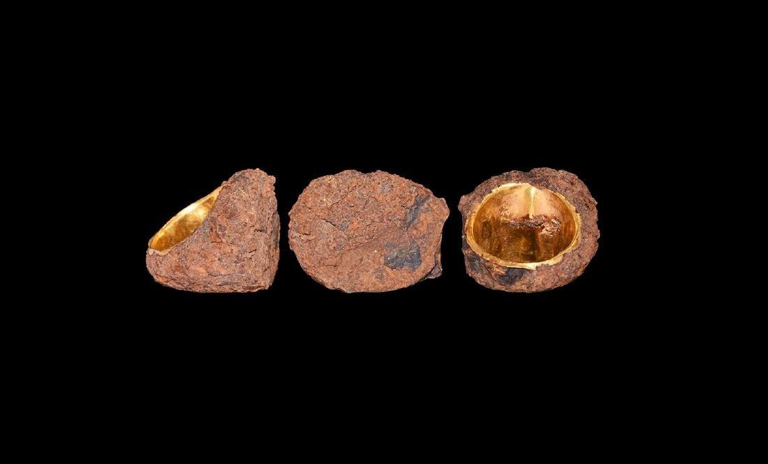 Roman Gold Ring with Iron Encrustation