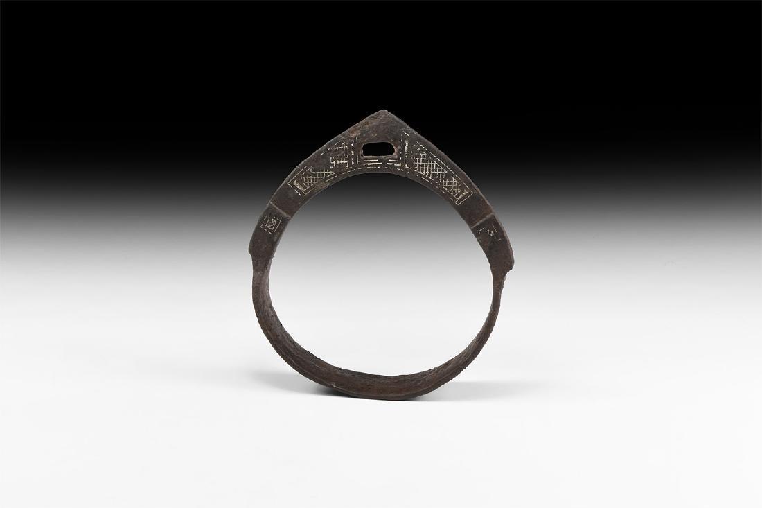 Viking Silver Inlaid Stirrup