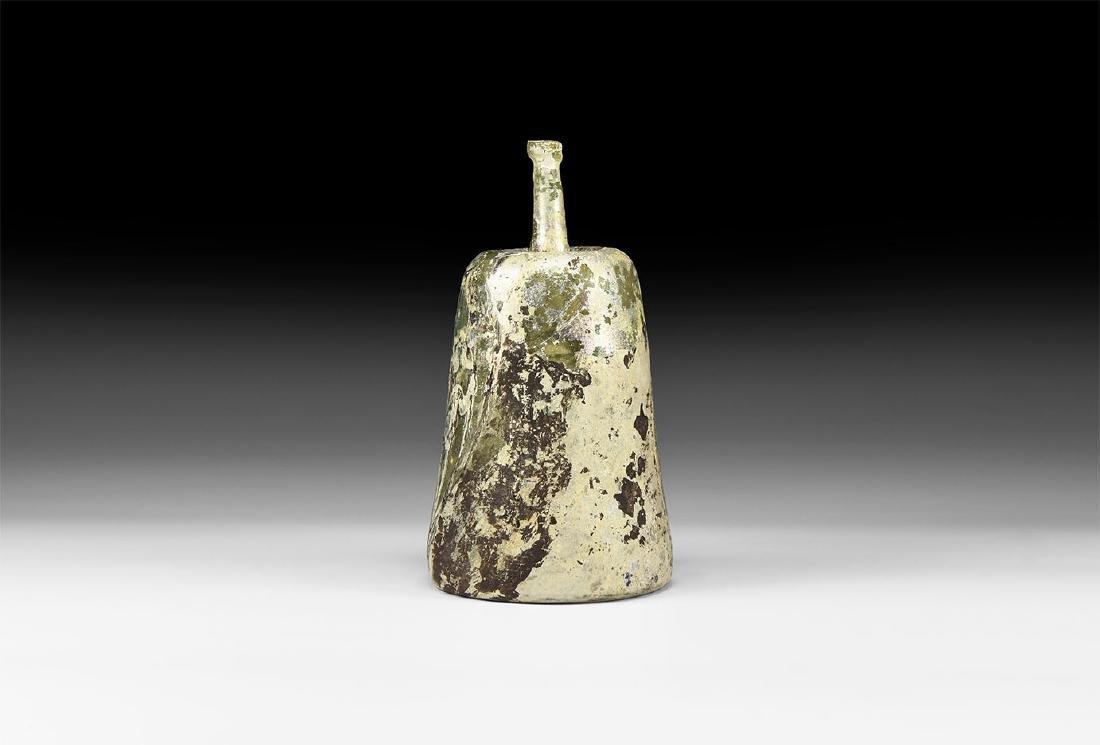 Byzantine Green Glass Lamp