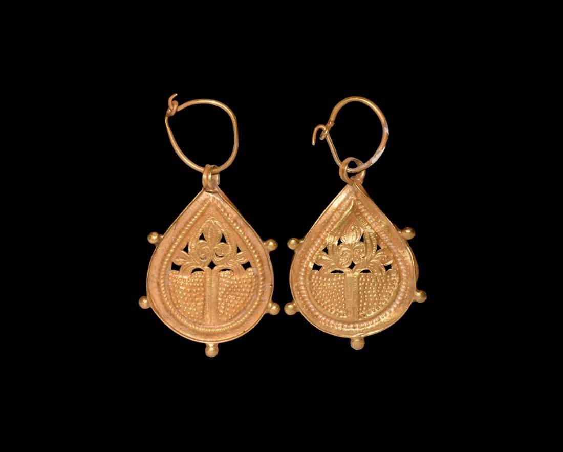 Byzantine Gold Earring Pair