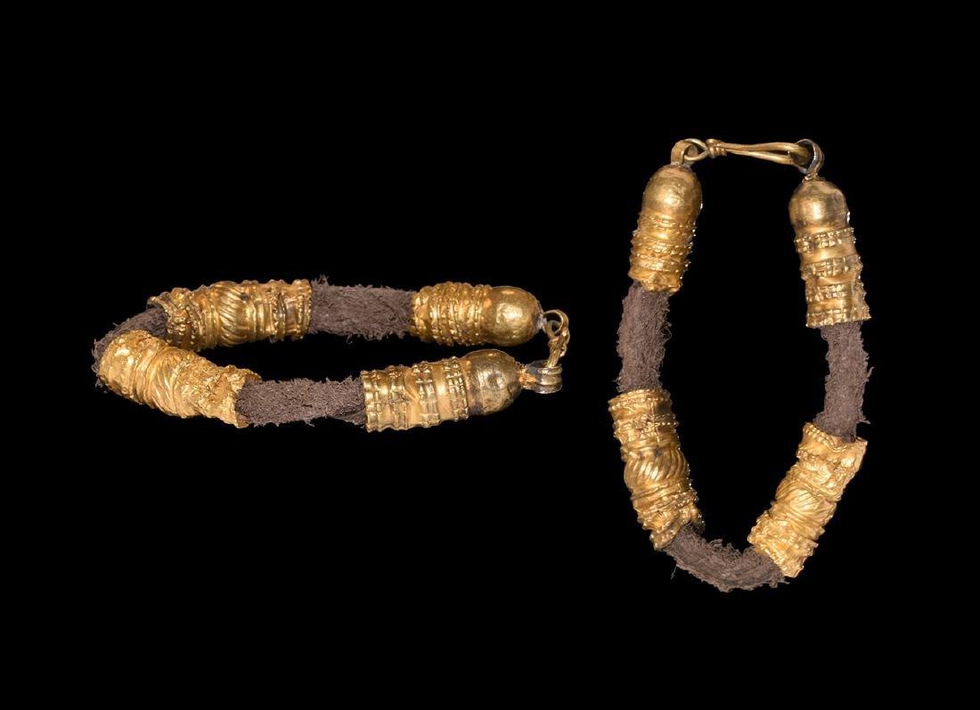 Byzantine Gold Bead Bracelet