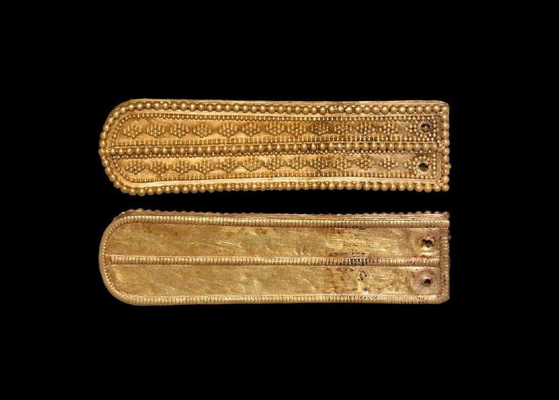 Byzantine Large Gold Filigree Strap End