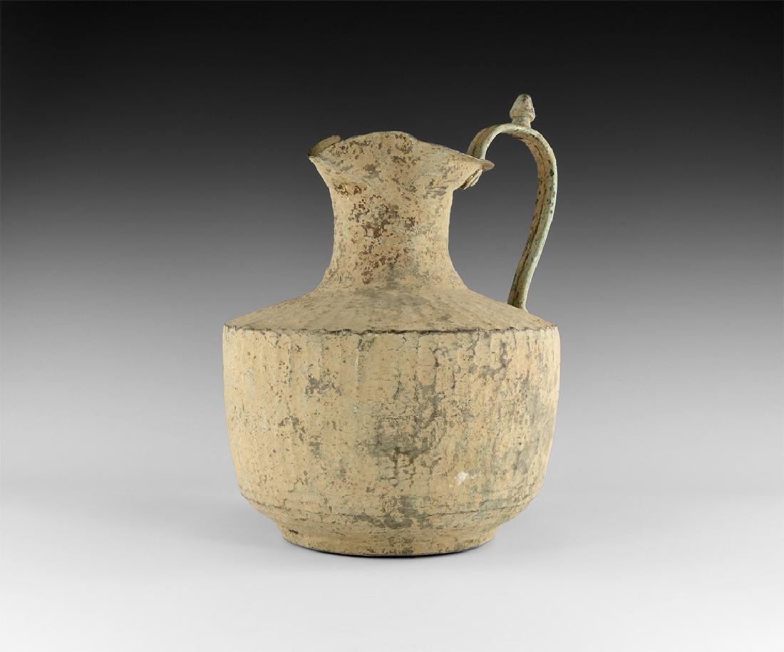 Byzantine Wine Jug with Ribbed Body