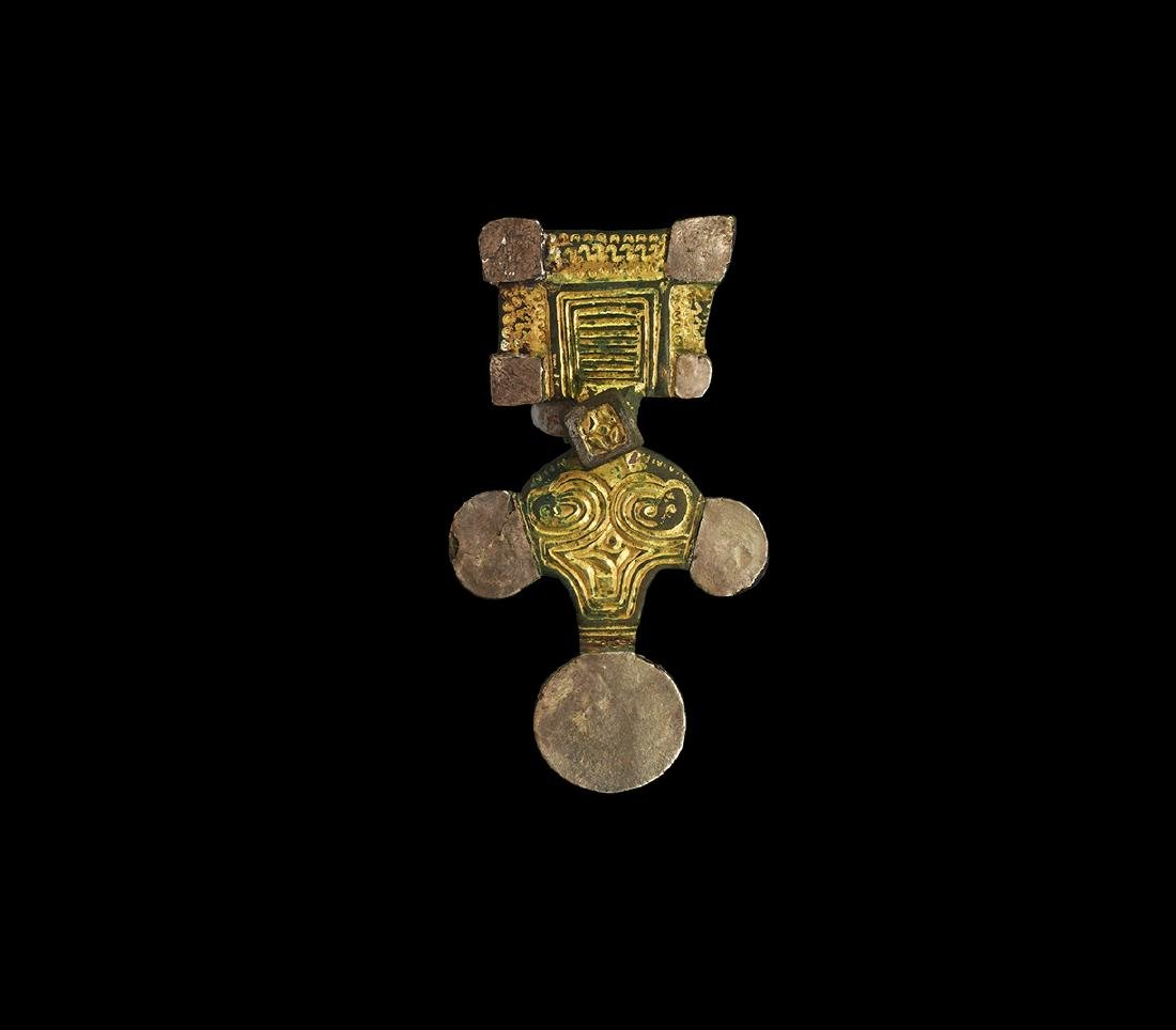 Anglo-Saxon Gilt Great Square-Headed Brooch