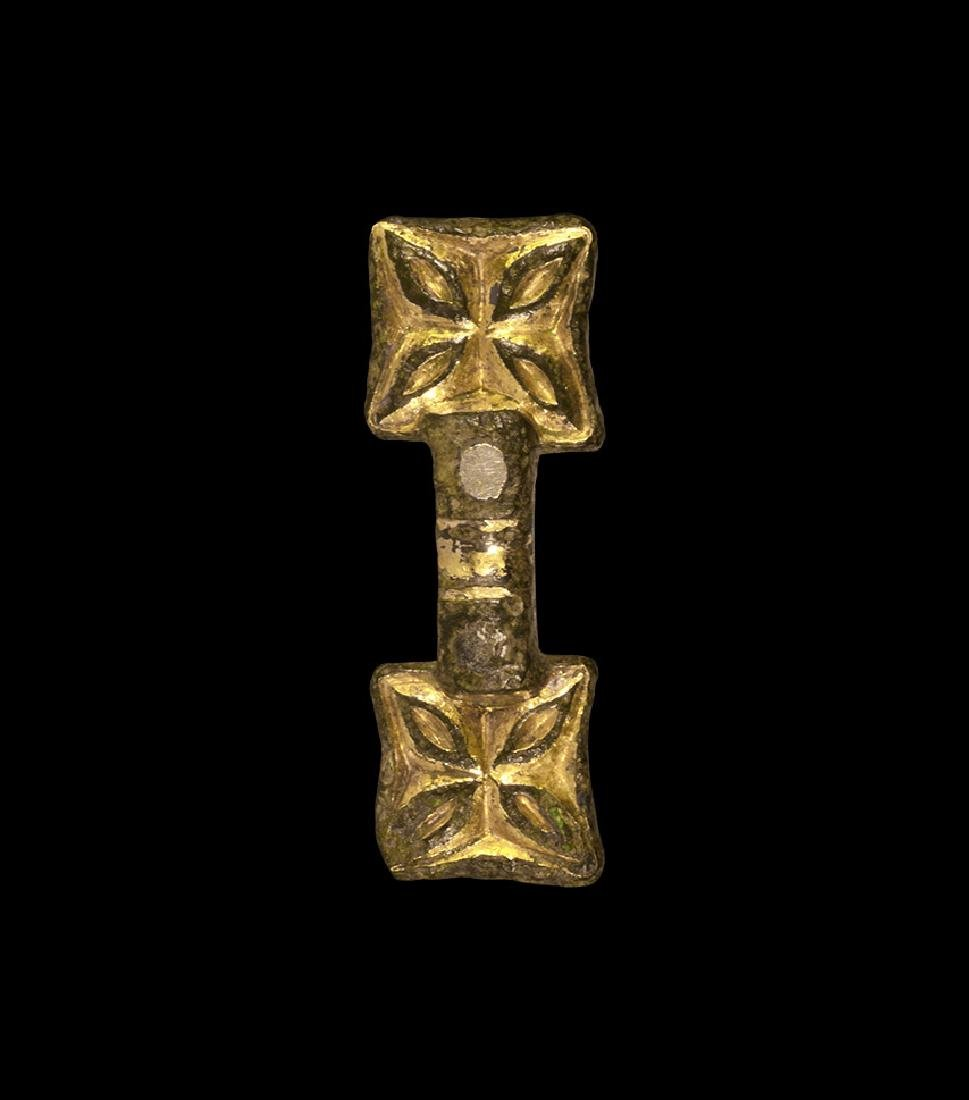 Anglo-Saxon Gold Chip-Carved Mount
