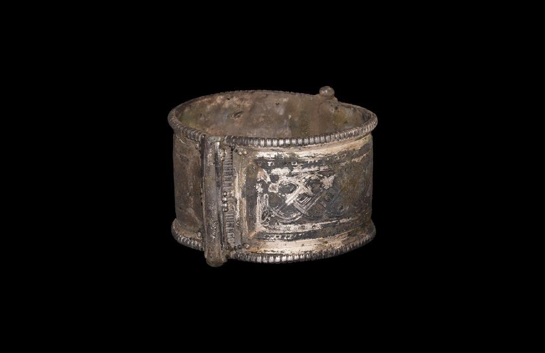 Viking Silver Bracelet with Interlaced Design