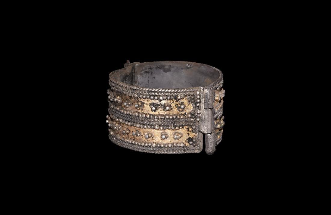 Viking Silver-Gilt Bracelet with Filigree
