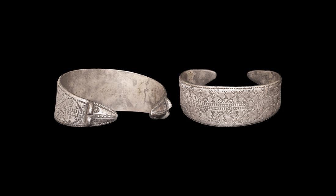 Viking Stamped Silver Bracelet